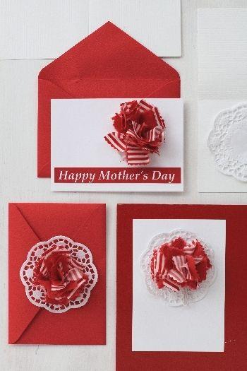母の日に!裂いた布で作るナチュラル可愛いカーネーション