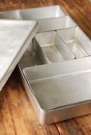 アルミ容器を使って小さいもの収納