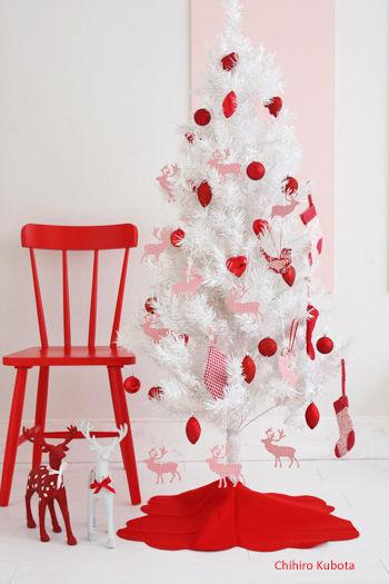 ◆クリスマスNo.2 IKEAのオーナメントと100円フェルトでクリスマス飾り