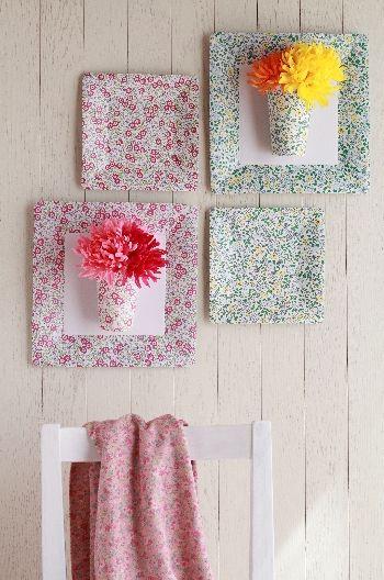 IKEA・紙皿を使って春のインテリア
