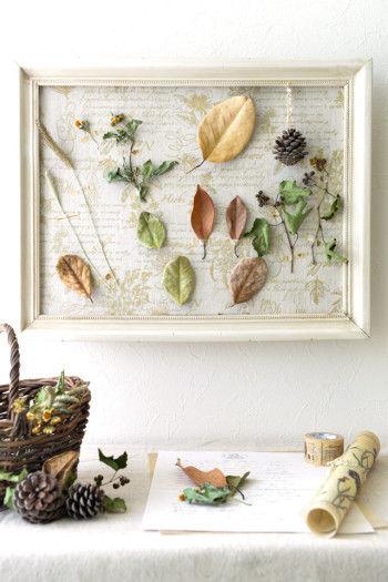 植物そのものの色や質感がナチュラルな、 アートとしても◎な標本の出来上がり♪ 親子の触れ合い、学びの機会としてもぴったりですね。