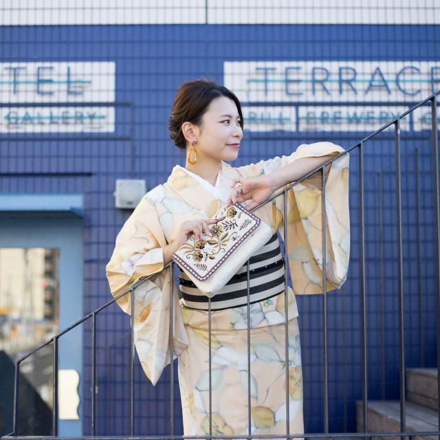 着物でフォトジェニックな秋のお散歩 @清澄白河
