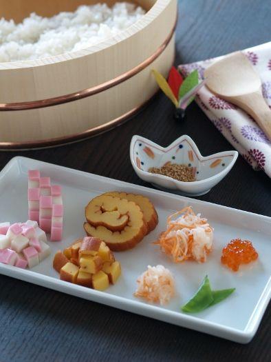 おせちの残りでちらし寿司&五目ご飯