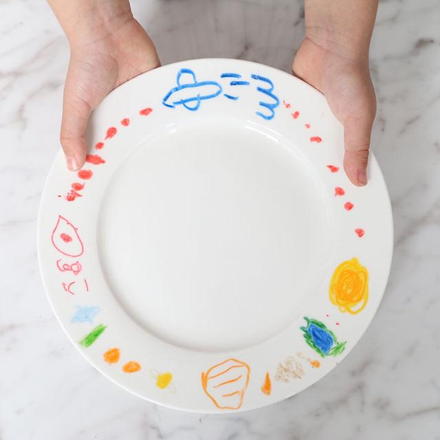 あそび育★無印良品「おえかきペン・陶磁器用」で世界に一つのお皿をつくろう