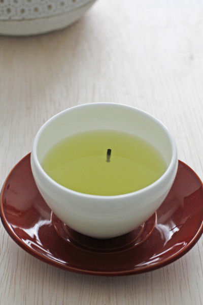 粉茶が固められて出来ている 茶柱です!