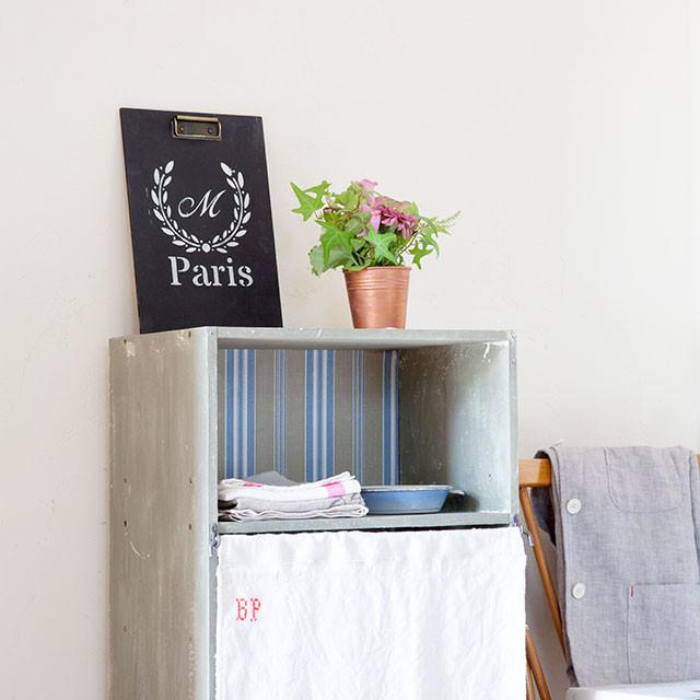 ペイント DIY カラーボックス 壁紙 リメイク