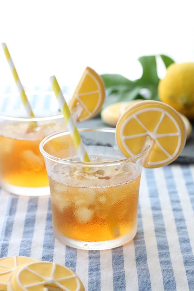 クッキー アイシング レモン 作り方 コップのフチ