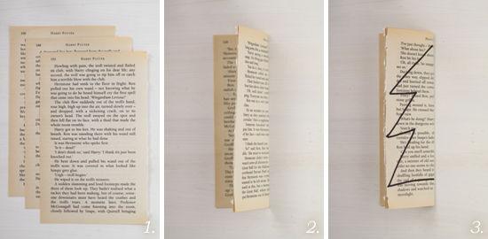 2012クリスマス・5 洋書を切って貼るだけ!のプチ・ツリー