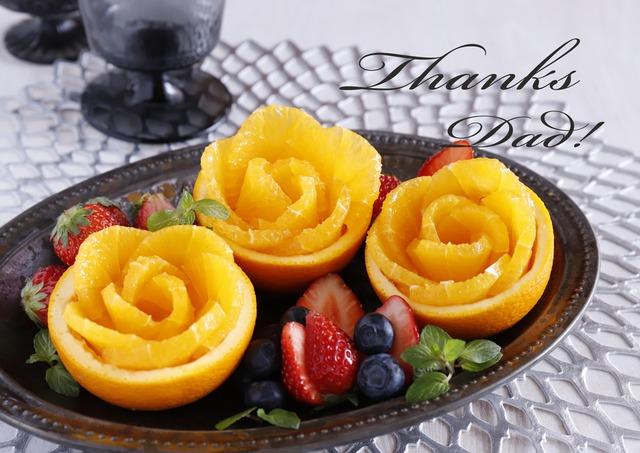 父の日の贈り物に食べられるお花を♪ オレンジローズの切り方