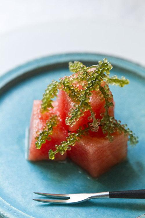 沖縄で新発見! 海ぶどうの新しい食べ方