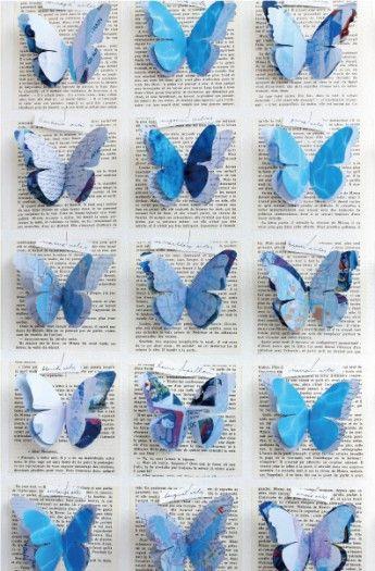 夏色ペーパーで作る昆虫標本オブジェ