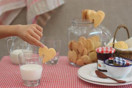 カップにちょこん ハートクッキー