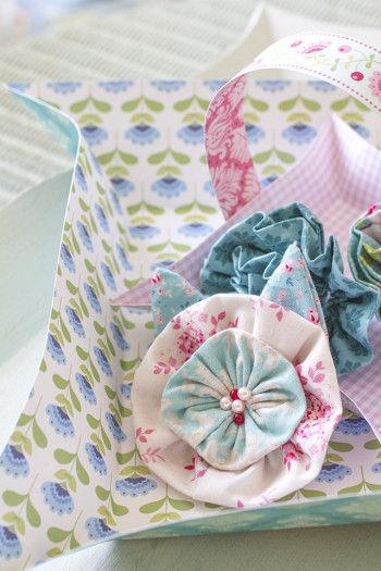 布で作ったお花たち~