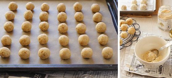 簡単かわいいマクロビ・スノーボールクッキー