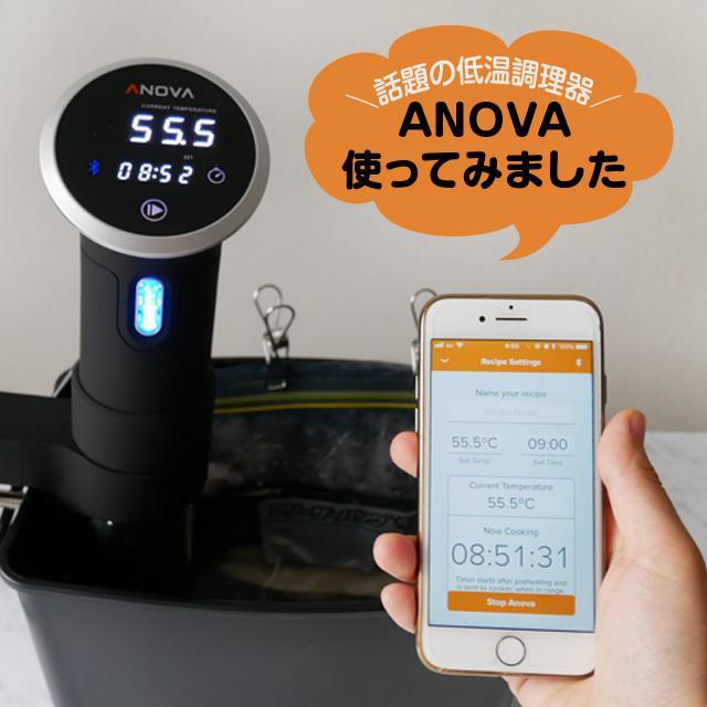 話題の低温調理器「ANOVA(アノヴァ)」を使ってみました!