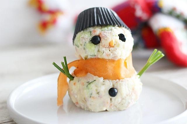 クリスマス レシピ スノーマン 雪だるま ポテトサラダ