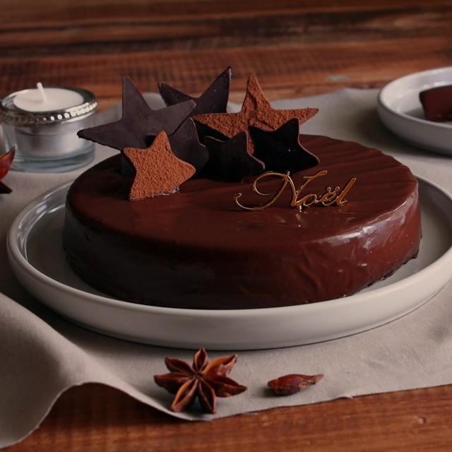 業務スーパー「297円チョコババロア」を簡単クリスマスケーキにアレンジ