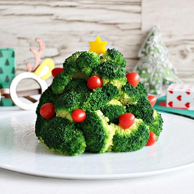 【野菜不足を解消】3種の野菜で作る可愛いクリスマスツリー