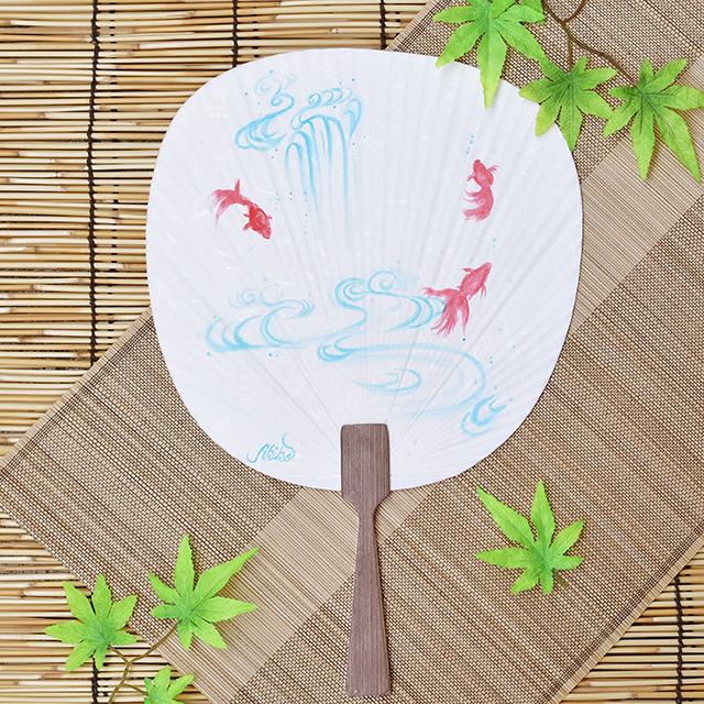 涼を感じる日本の伝統小物うちわに手描きを。お手軽アートを楽しむ