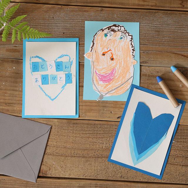 あそび育★まだ間に合う100均グッズで作れる父の日カード こどもの年齢別ポイントつき
