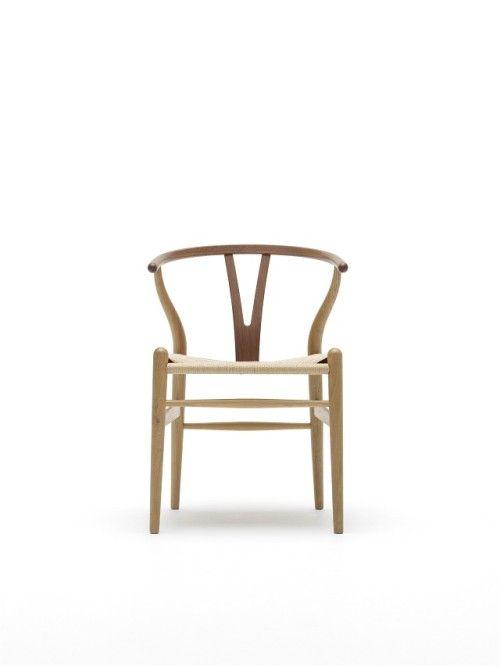 CH24 / Y CHAIR  オーク材・ウォルナット材(オイル仕上げ)・ペーパーコード W55×D51×H74(SH43)cm  ¥112,000 デザイナーであるハンス J. ウェグナーの生誕100周年を記念して 発表されたオークとウォルナットの2つの木材を組み合わせた 新しいバージョンのYチェアです。ザ・コンランショップ先行発売品。