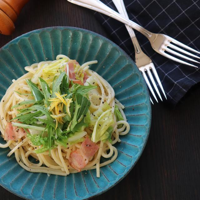 味付けは塩とこしょうだけ 白菜と柚子のスパゲティーの作り方