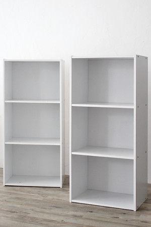 アイリスオーヤマのカラーボックスを使います。 専用のパーツが発売されていますので、 サイズもピッタリで使えて安心^^