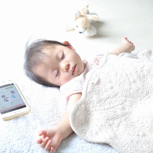 寝ない子がこのアプリでぐっすり♪ 不思議な音楽アプリ!