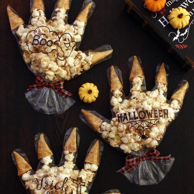 ハロウィンのお菓子に♪ 食べられる「オバケの手」