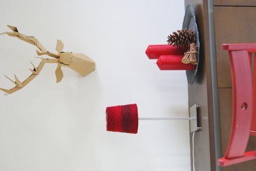 毛糸を巻くだけランプシェードのあったかリメイク
