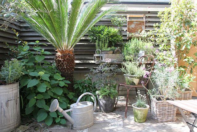 「BROCANTE」スタイル! 鉢中心で楽しむ初心者の庭