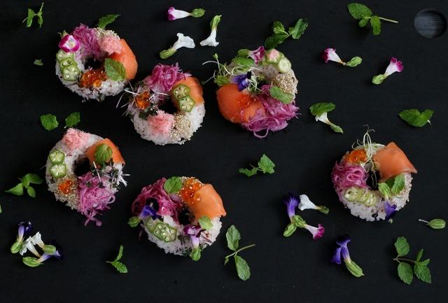 寿司 ドーナツ 作り方 レシピ パーティーメニュー