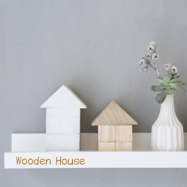 まるで北欧!? ダイソー100均木工パーツで作る小さなお家
