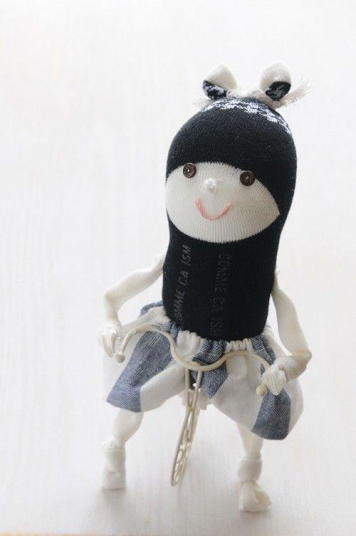 「わたしのSock Doll」 縫わない縫いぐるみ?