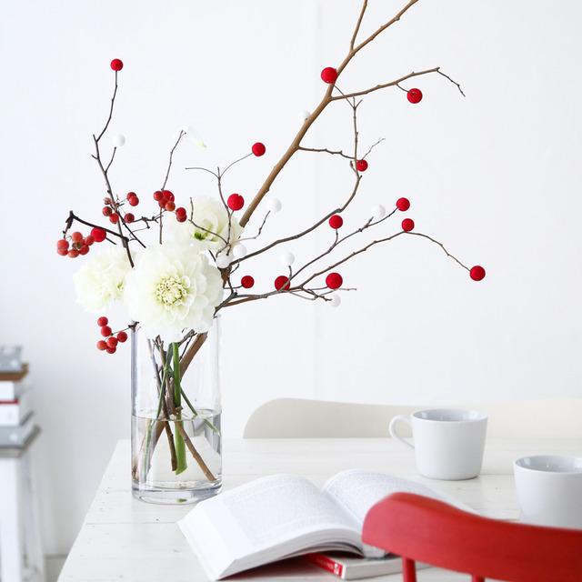 ダイソーで買える紅白花餅ピックで簡単♪ 小正月のお飾り