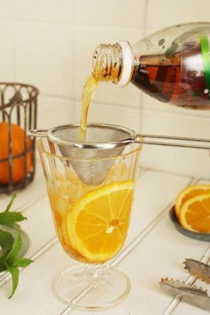 夏のおもてなしにもおすすめ。オレンジ風味の簡単ティーソーダ