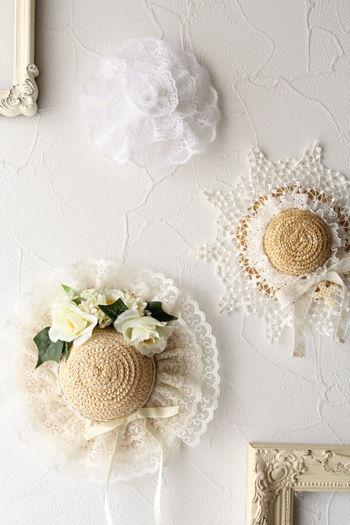 壁面に飾って楽しむドレスハット