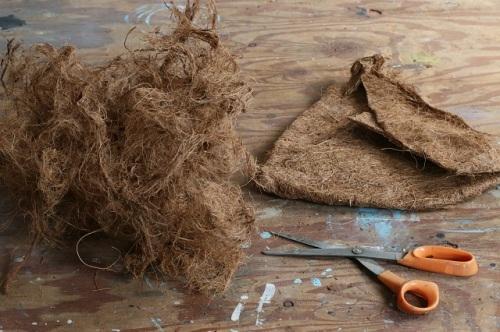 多肉の寄せ植えバッグを100均のBBQ網で