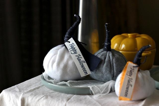 フリース布で♪ 簡単かぼちゃの作り方