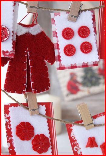 ◆クリスマスNo.1 ビンテージボタンでかわいいクリスマス