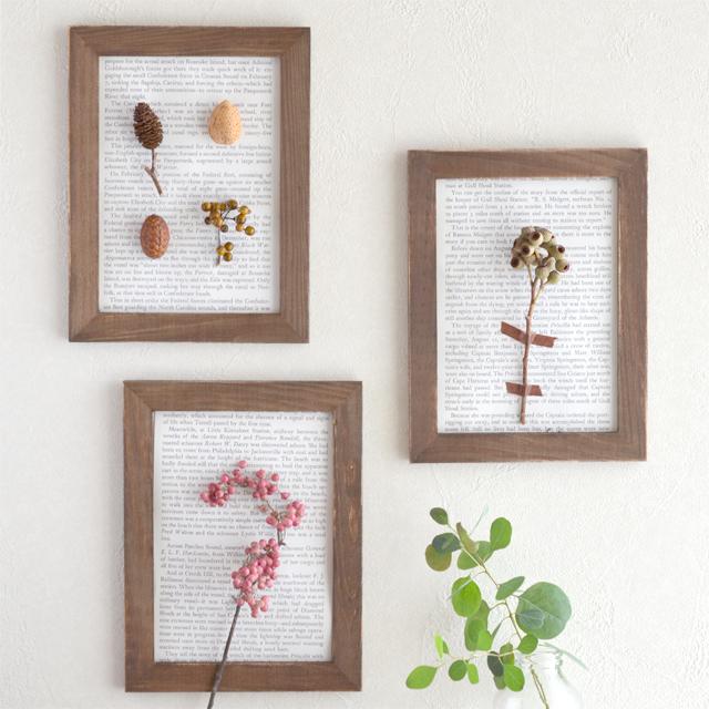 簡単! 木の実と100均フォトフレームで作るボタニカルアート