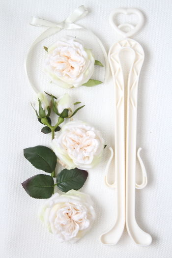 かわいい!お花付きブーツキーパー