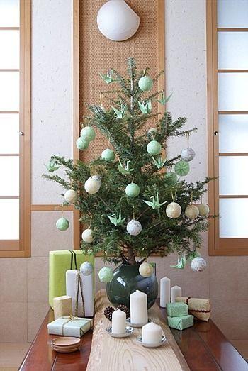 ◆クリスマスNo.15 和のオーナメントで飾るクリスマスツリー