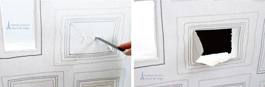 額イラストの壁紙を使って 海を飾る壁面づくり