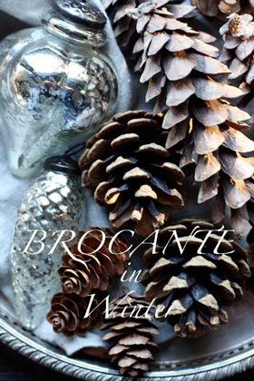 ブロカントな冬のインテリア