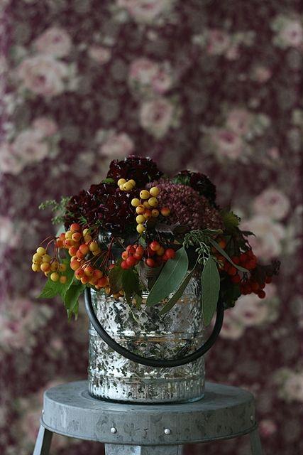 レトロヴィンテージ風に楽しむ♪ 秋の花