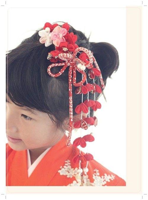 つまみ細工で、世界でひとつの七五三の髪飾り