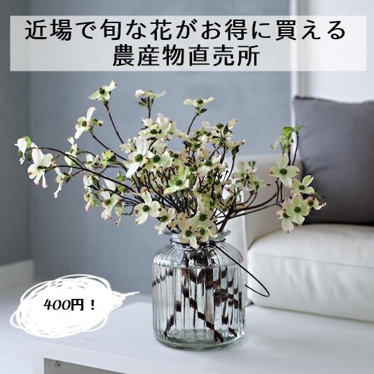 旬の花がお得に買える農産物直売所  ~お花を素敵に飾るコツ~