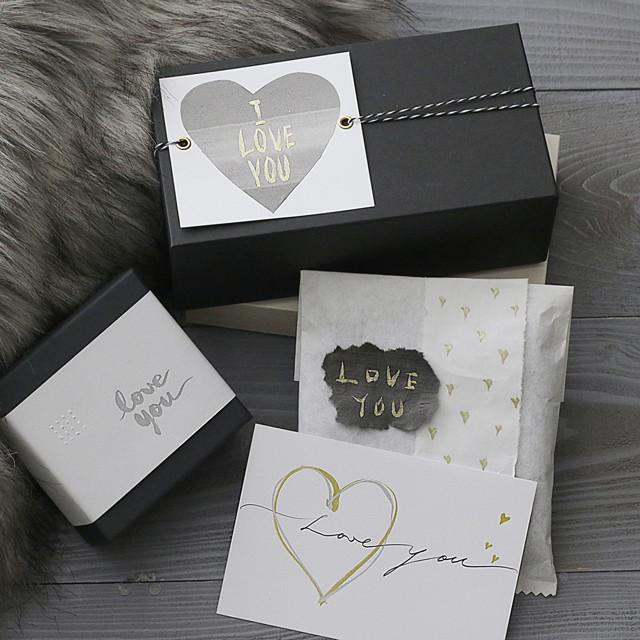 筆ペンでオシャレな描き文字♪ バレンタインラッピング 4種