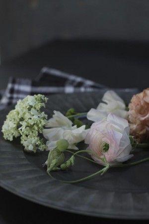 キッチンクロスで春の花束ラッピング